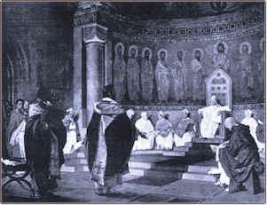 Resoconto dalla missione davanti al Papa in san Giovanni in Laterano a Roma.