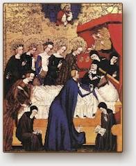 Master of Heiligenkreuz, La Morte di Santa Chiara, 1410 National Gallery of Art, Washington