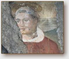 Un antico affresco sito nella Chiesa dedicata al santo in Bassano R.