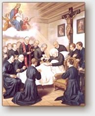 (Giovanni Gagliardi), Sant'Alfonso sul letto di morte, olio su tela, Roma, Casa Generalizia Missionari Redentoristi, fine sec. XIX.