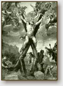 La morte del santo.