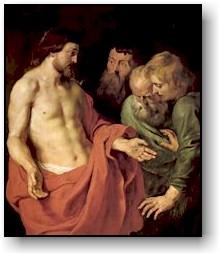 Perchè mi hai veduto, Tommaso, tu hai creduto;<br /> beati quelli che, pur non avendo visto, crederanno.