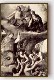 San Gregorio intercede per i peccatori.