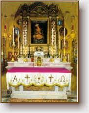 L'altare del Santuario di Castel Sant'Elia
