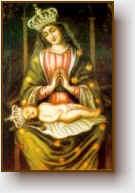 Il quadro della Madonna delle rupi.