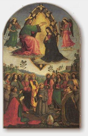 Pinturicchio, Bernardino di Betto detto il e Giambattista Caporali, Incoronazione della Vergine, Pinacoteca Vaticana, 1503