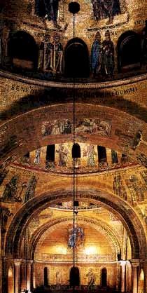 Interno della basilica di San Marco, Venezia.