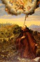 L'uomo di Dio, Silvestro, in contemplazione.