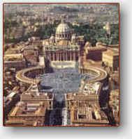 Il colle vaticano in Roma